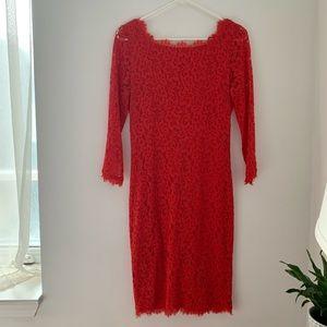 Diane von Furstenberg Zarita lace dress, size 8